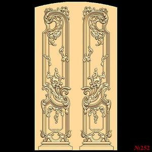 252-STL-Model-Door-for-CNC-Router-3D-Printer-Artcam-Aspire-Bas-Relief