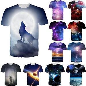 53b7691c33d5 Fancy Psychedelic Galaxy Space Design 3D Print Men Women Tee T Shirt ...