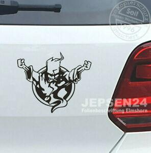 Gabba-Thunderdome-Autoaufkleber-14cm-schwarz-glanz-JDM-Sticker-Hardcore