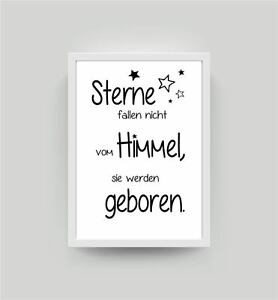 spruch sterne kunstdruck a4 kinderzimmer babyzimmer deko wandbild poster k016 ebay. Black Bedroom Furniture Sets. Home Design Ideas