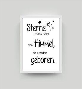 Spruch Sterne... Kunstdruck A4 Kinderzimmer Babyzimmer Deko Wandbild ...