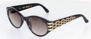 Sonnenbrillen & -zubehör Kleidung & Accessoires Aufrichtig Nicky Miethell Sonnenbrille Schwarz/gold Sunglasses