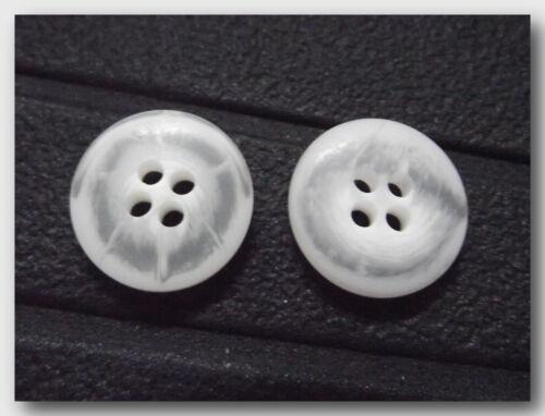 5 Knöpfe weiß matt Deckkraft partielle 20 mm 4 Löcher neu Knopf Nähen