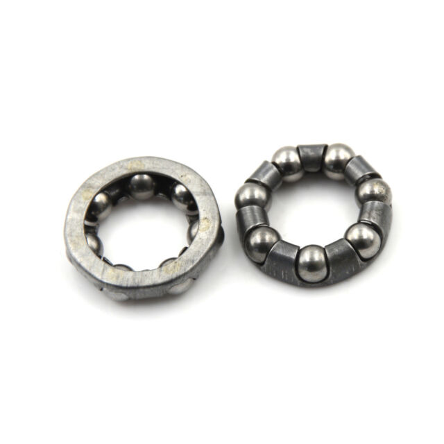 2 x Bicycle Rear Wheel Axle 1//4 Inch x 7 Ball Bearing Cages Pair Bike WF LM