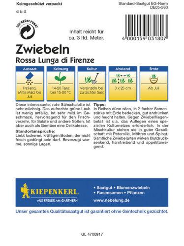 MHD 01//21 Sähschalo Kiepenkerl 3180 Zwiebel Lauchzwiebel Rote von Florenz