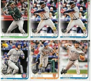 2019-Topps-Series-1-amp-2-150th-Anniversary-Gold-Stamp-Parallel-You-Pick-Choose