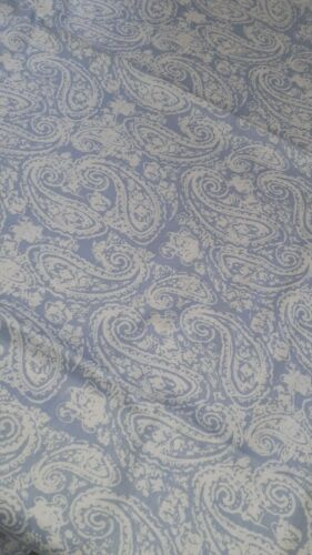 "100/% Algodón Chambray Tela Azul//Blanco Paisley Diseño W 148cm//58/"" Confección"