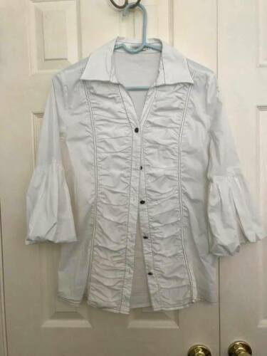 Womans TASHA POLIZZI  White Fitted Button-down Top