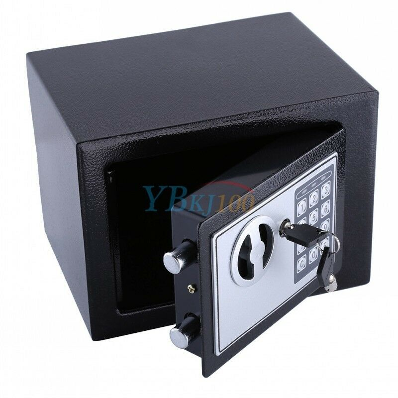 Secure steel 8 5l digital electronic fire safe box cash for Safe and secure products
