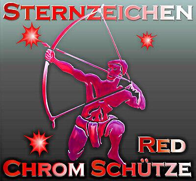 3 d Sternenzeichen Red Schütze Chrom Metall Tattoo Sticker Auto Caravan  Boot
