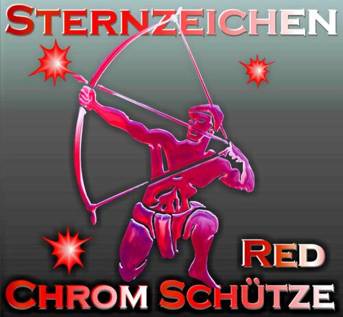 3 D Sternzeichen Red Schütze Chrom Metall Tattoo Sticker Auto SUV Caravan  Boot
