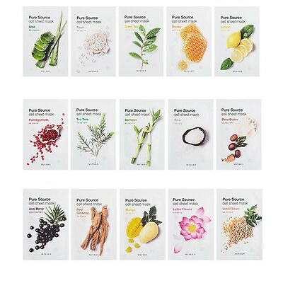 [MISSHA] Pure Source Cell Sheet Mask ( 15 Types, 3pcs) 21g / Korea Cosmetic