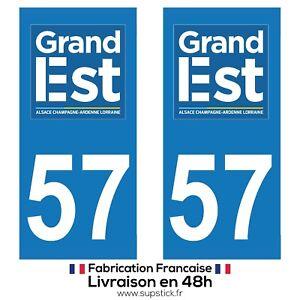Sticker autocollant d/'Immatriculation département 57 Région Lorraine Grand Est