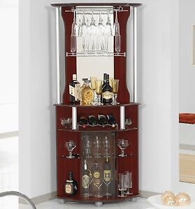 Image Is Loading Bar Cabinet Corner Home Bottle Storage Wine Rack