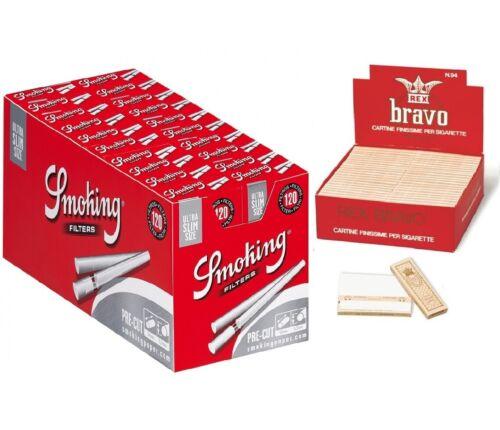 4000 Cartine Corte Bravo Rex 1 Box 2400 Filtri Smoking Ultra Slim 1 Box