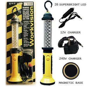 Rechargable 26 led long life cordeless inspection lamp for Lampada led lunga
