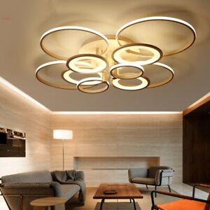Details about Modern Bedroom Remote Control Dimming Living Room Acrylic  4-10 LED Ceiling Light