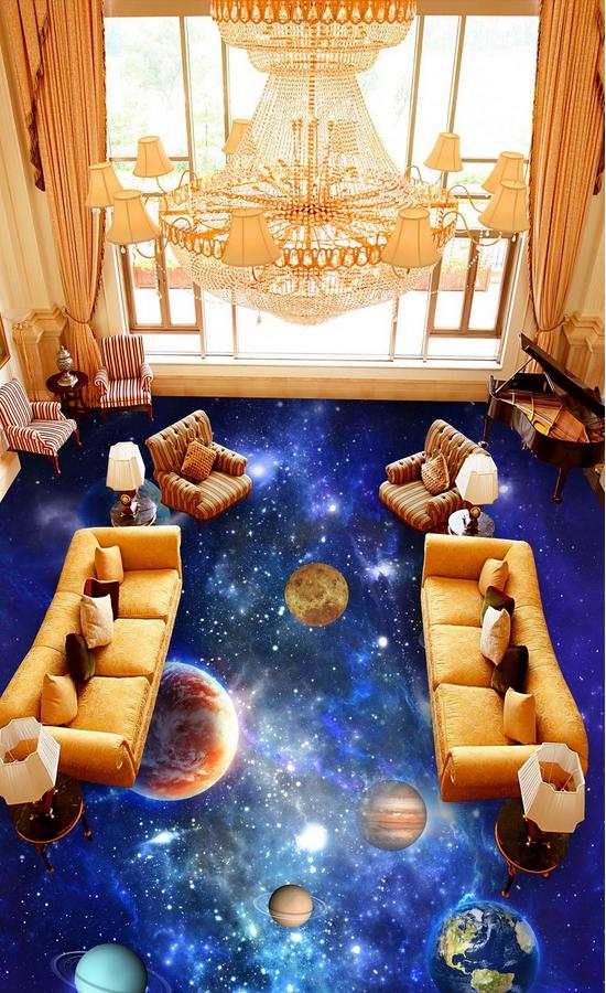 3D Planet 458 Fototapeten Wandbild Fototapete Tapete Familie DE Lemon