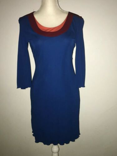 Stephen Burrows VTG   Colorblock  Jersey Knit Dres