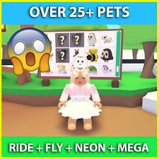 Roblox Adopt Me Toy Mega Neon Fly Ride Pet Free W Purchase Of Custom Logo Ebay