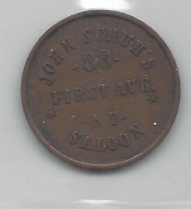 **1863**USA, Saloon Token, Coin Mart Graded**AU-50**