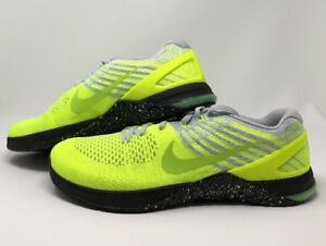 Brand New Mens Nike Metcon DSX Flyknit Volt/Ghost Green 852930-701 Size 14