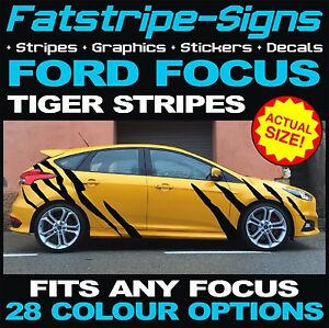 FORD FOCUS ST TIGER STRIPES CAR VINYL GRAPHICS DECALS STICKERS MK - Car decals designnew design full car body stickers for ford focus golf mg