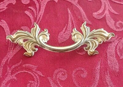 """Belwith Brass French Provincial Drawer Pull 3/"""" Bore P1751 Gold White Fancy"""