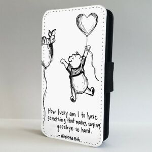 Cute Winnie The Pooh Quote Flip Phone Case Cover For Iphone Samsung