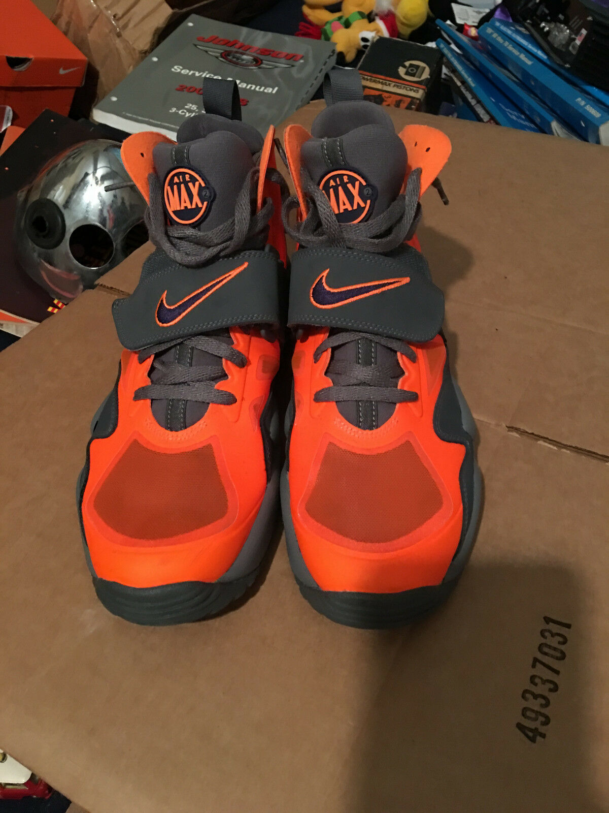 Nike Air Max Size 12 Express shoes Total Orange/Imperial Purple/Gray 525224-800