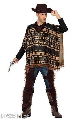 Marrone SELVAGGIO WEST IN PELLE EFFETTO Chaps Cowboy Costume