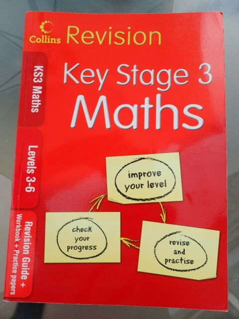 KS3 Maths L3-6: Revision Guide + Workbook + Practice Papers by HarperCollins Pub