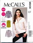 MCCALL'S SEWING PATTERN 6436 WOMENS SZ 18W-24W LOOSE-FITTING SHIRTS - PLUS SIZES