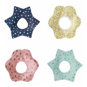 Baby Waterproof Bibs 5 Layers 100% Cotton Bandana Feeding Kids Toddler Star 1
