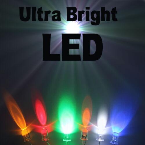 8mm//10mm todos los colores del Reino Unido Vendedor Leds Ultra Brillantes 2.1 mm//3mm//5mm