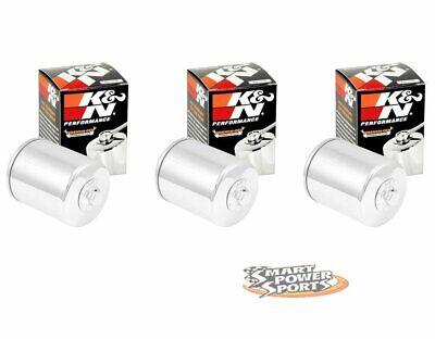 4 Genuine K/&N KN-171C CHROME Oil Filter Harley Davidson *FREE PRIORITY SHIP*
