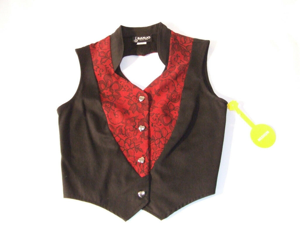 Ladies Western Show Vest  Hearts   made in the U.S.A.      1606N     A