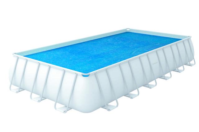 Bestway 24 x 12ft Rectangular Solar Pool Cover Garden Swimming Pool