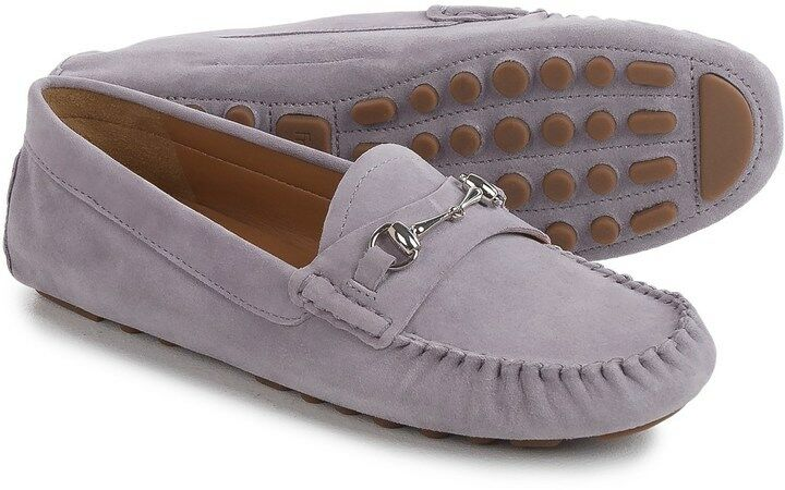 Franco Sarto Womens Galatea Driving Style Loafers Flat shoes Slip On Suede 8 M