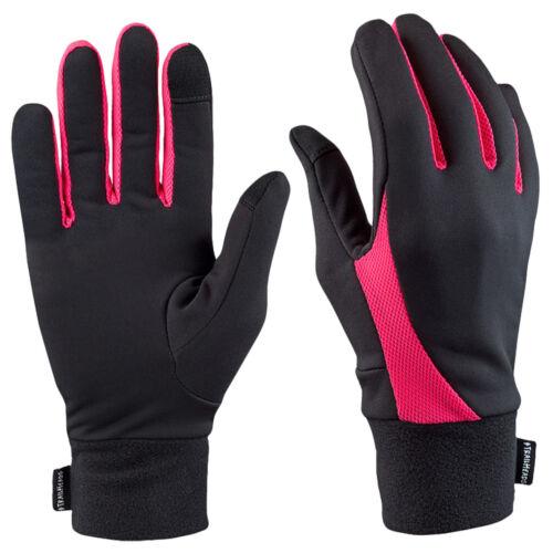 black TrailHeads Elements Touchscreen Running Gloves neon pink