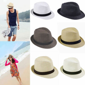 UK Panama Hat Straw Hat Trilby Garden Hat Summer Hat Beach Hat Women ... 88c08ed287b