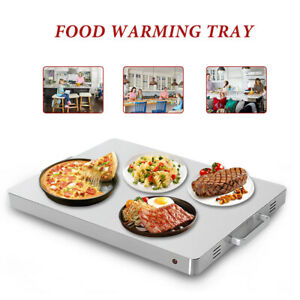 Electric-Food-Warming-Tray-Buffet-Food-Warmer-Silver-Stainless-Steel-Hot-Plate