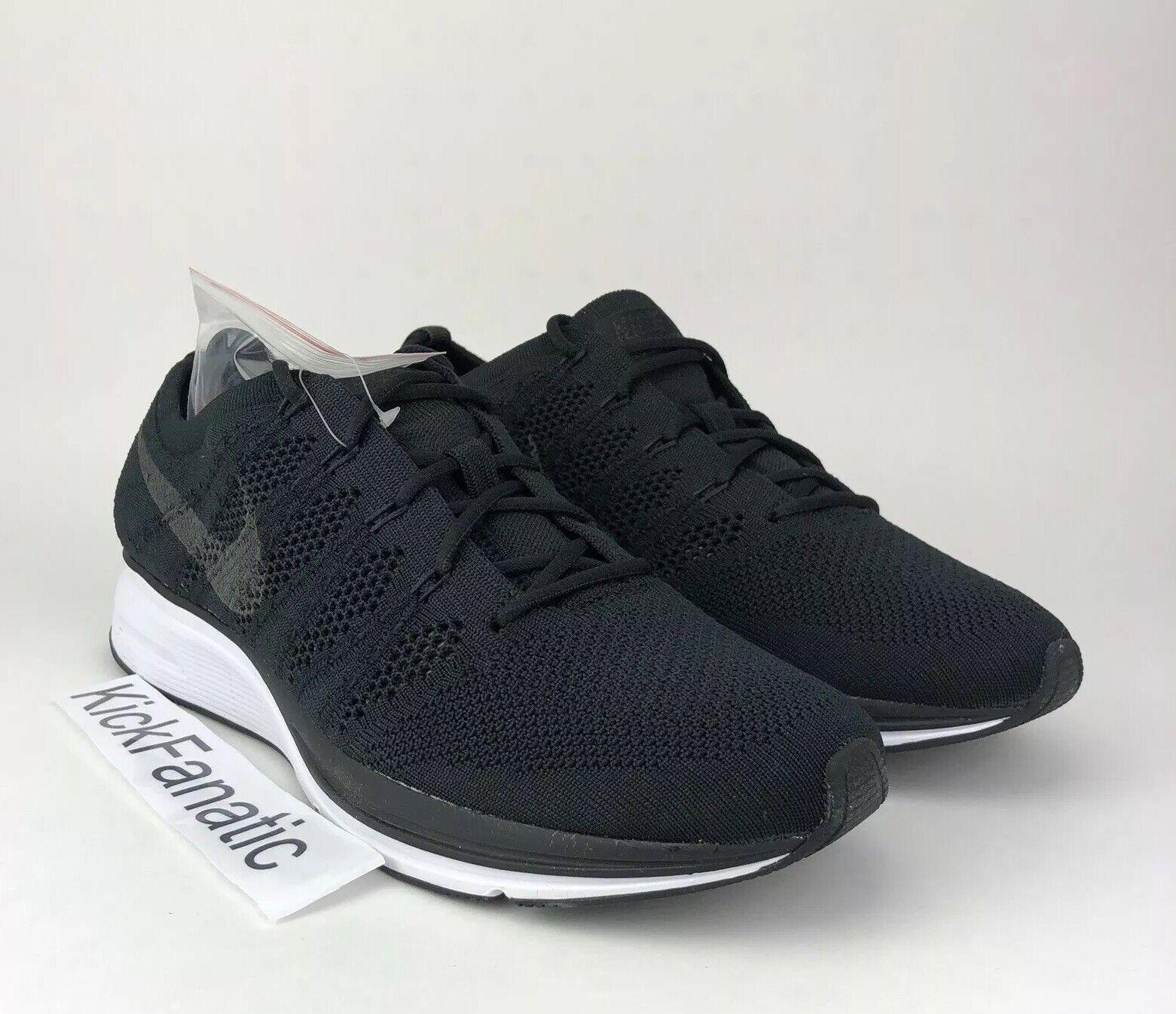 Nike Air Flyknit Trainer Noir Blanc Chaussures Homme Neuf 8 Femme 9.5 AH8396-007