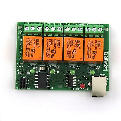 USB-Relais-Karte;4 Relais/relays 220V / USB relay board - ver.2