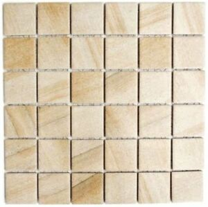 Keramik Mosaik Steinoptik Beige Hellbraun Wand Kuche Dusche Wb16