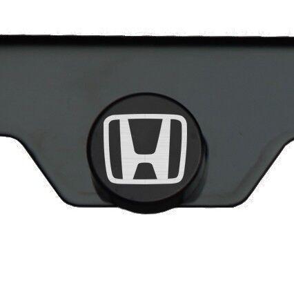 Matte Black Laser Etched Honda Mirror License Plate Frame Cover Holder Screw Cap