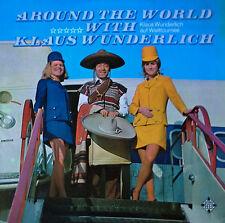 KLAUS WUNDERLICH - AROUND THE WORLD WITH -  TELEFUNKEN - 2 LP SET - GERMAN PRESS