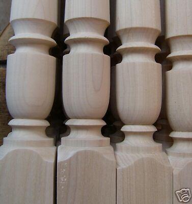 """Balusters Custom Turned 2/"""" Poplar Stairway Spindles"""