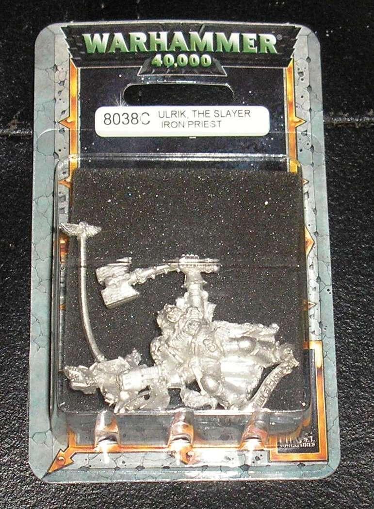 40k Rare oop Blister Vintage Metal Space Marine Wolf Priest Ulrik the Slayer NIB