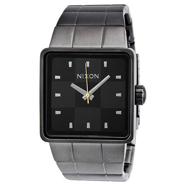 Nixon The Quatro Gunmetal Ion-plated Mens Watch A013680